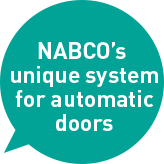 NABCO's unique system for automatic doors