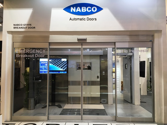Nabco exhibited new entrance solutions at indobuildtech
