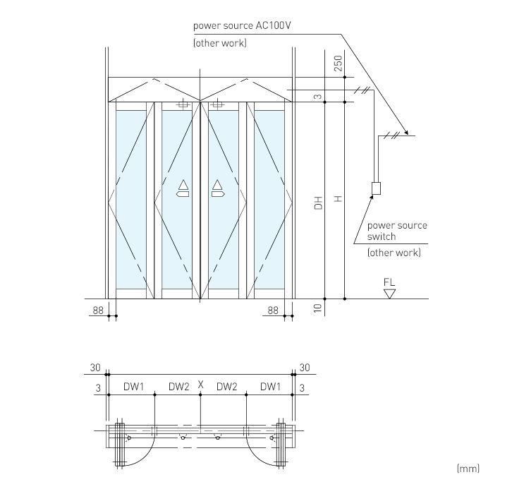 Dh 41 Folding Door Operator Swing Door Folding Door