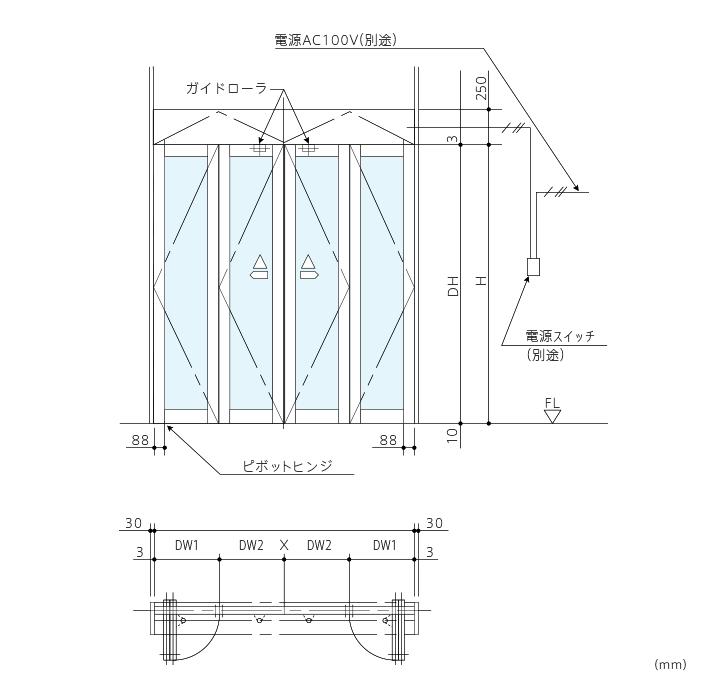 DH-41 折り戸 | 開き戸・折り戸 | 商品一覧 | ナブコ自動ドア
