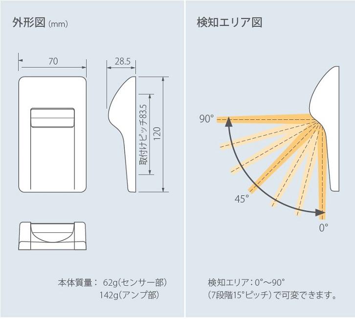 外形図/検知エリア図